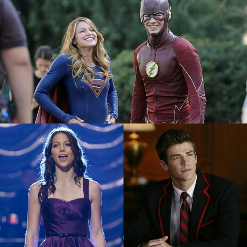 when melissa benoist (marley) and grant gustin (sebastian) end up being the flash and supergirl