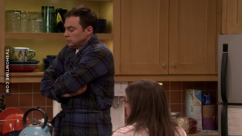 Amy: I don't want your germs around me.  Sheldon: You hold my hand, you kiss my mouth but you draw the line in 102 fever. What happened to our love.  😂😂