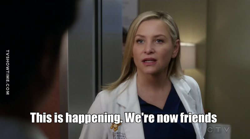 When you meet someone who loves grey's as much as you do