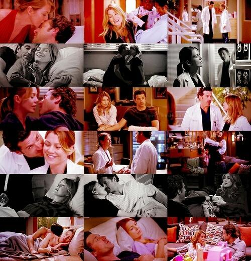 """""""Derek era epico, per lei. Erano la grande storia d'amore. Voglio dire, il cuore di quella ragazza batteva per Derek Sheperd. Lui era perfetto, era tutto. Quell'uomo le ha cambiato la vita.""""  Chi vuole fazzoletti??"""