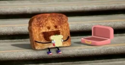 Um pão comendo pão