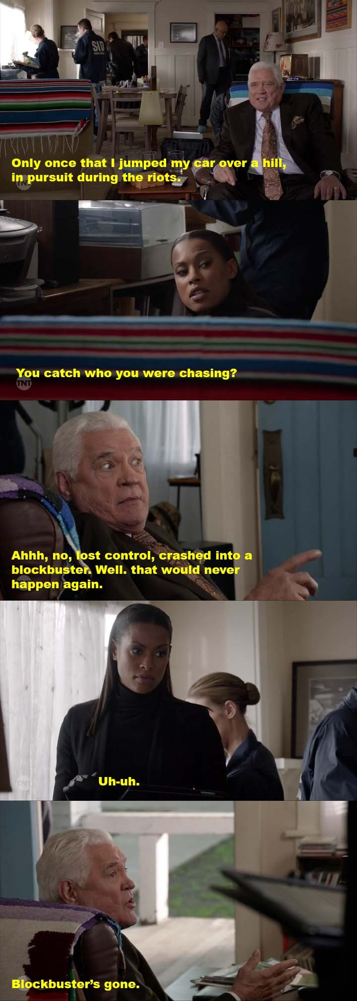 Lt. Provenza: I love you more and more.