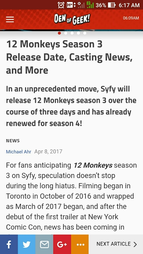 Holy shit. This is insane. I can't wait to finish seasons 1 and 2 on order to be ready for a 3 day binge fest. 😁 Syfy is doing it right. 😅😁