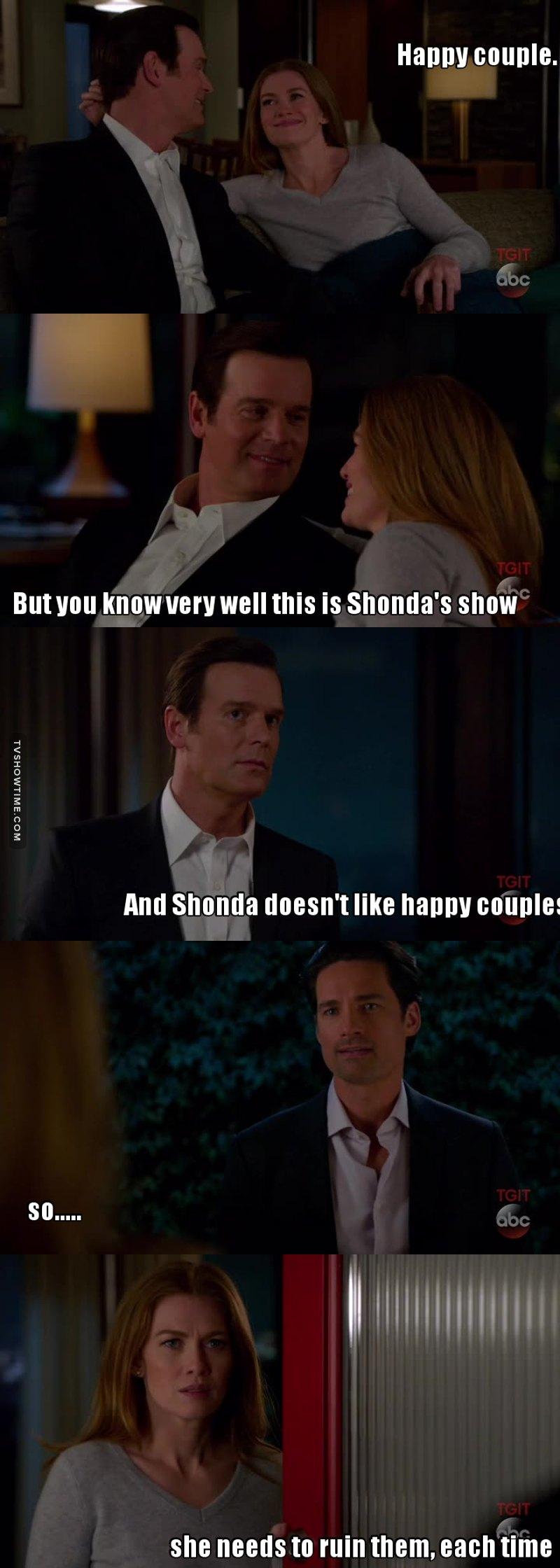 Shonda probably got some problems...
