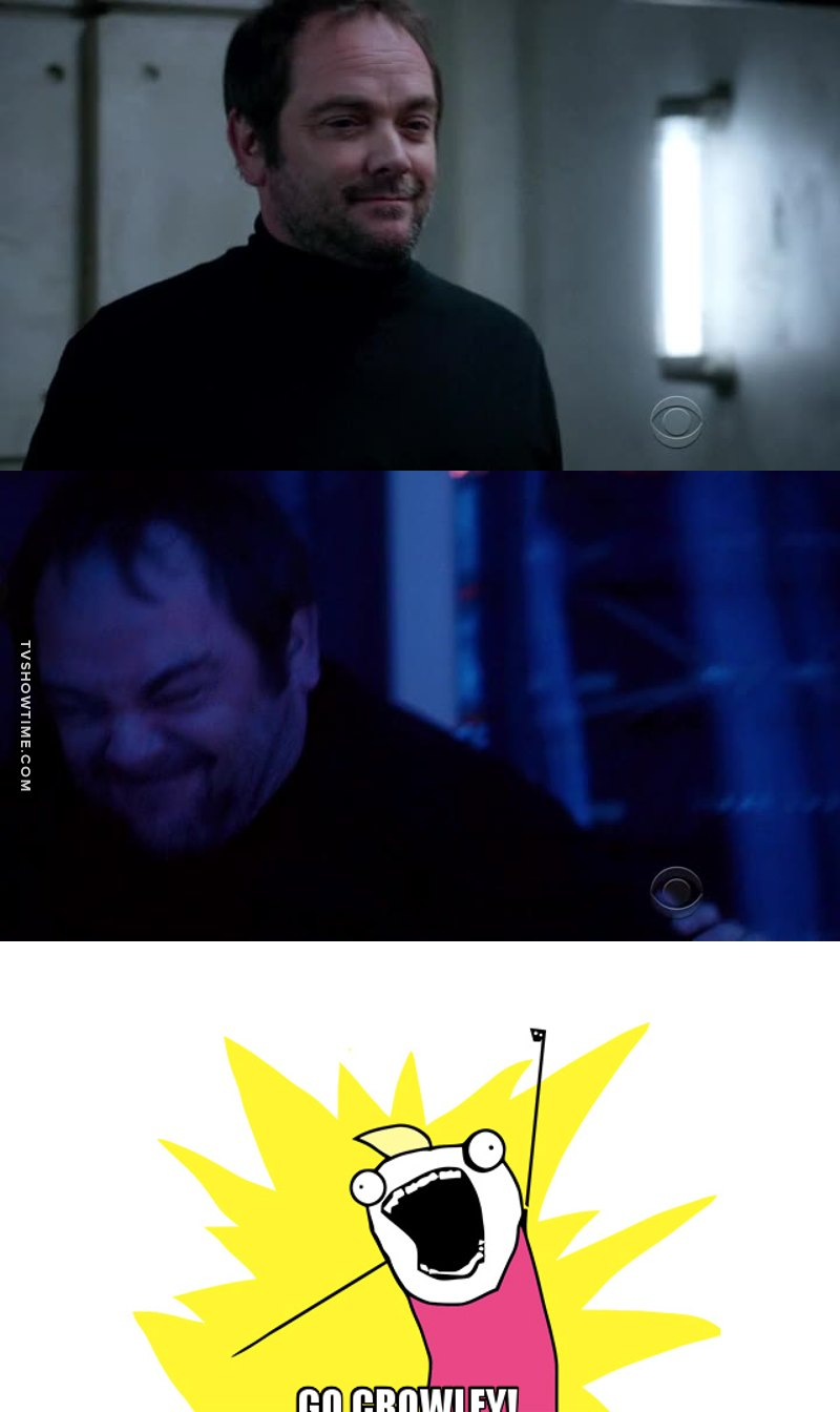 You know a show is good when Crowley shows up. This show has just been given the MARK SHEPPARD SEAL OF APPROVAL. I can't wait to see what season 3 brings.