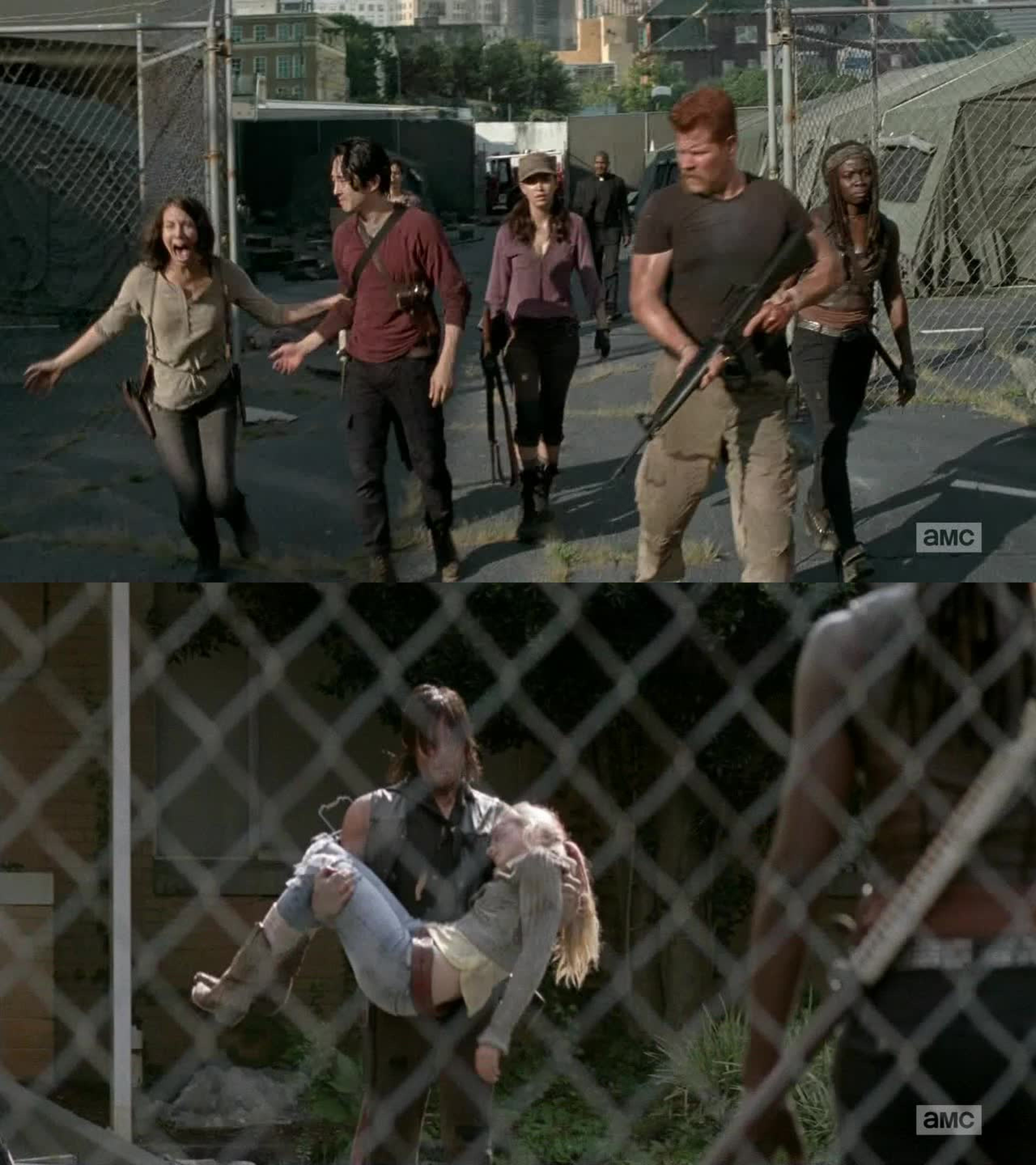 I cried for Daryl and Maggie.