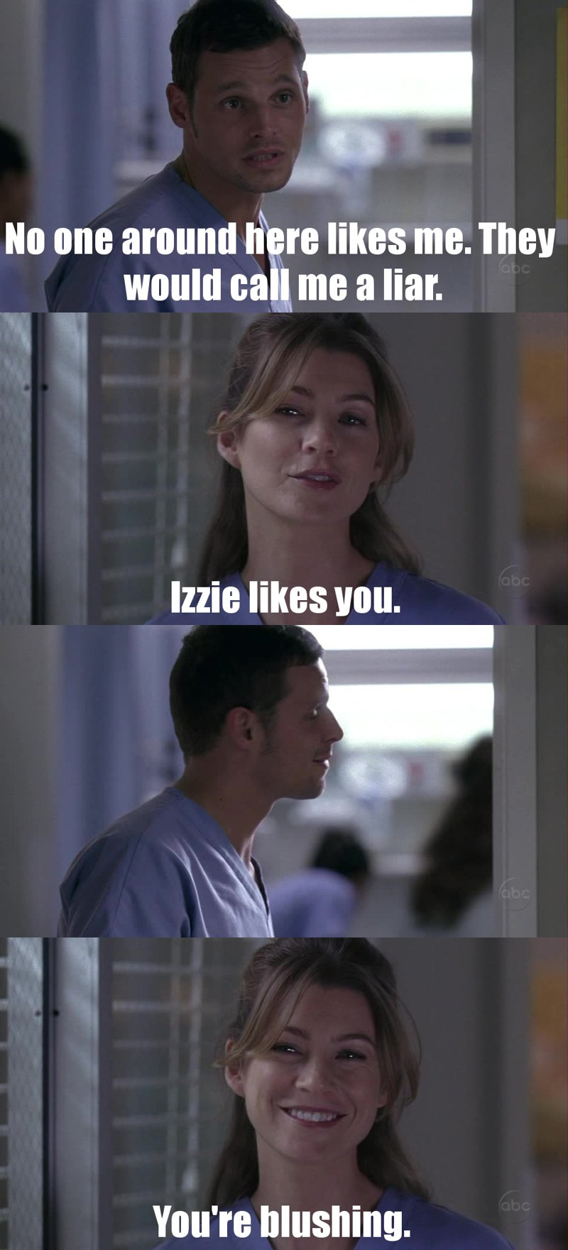 I hated derek in this episode. But alex is not being a jerk all the time. Now I like him more than before <3