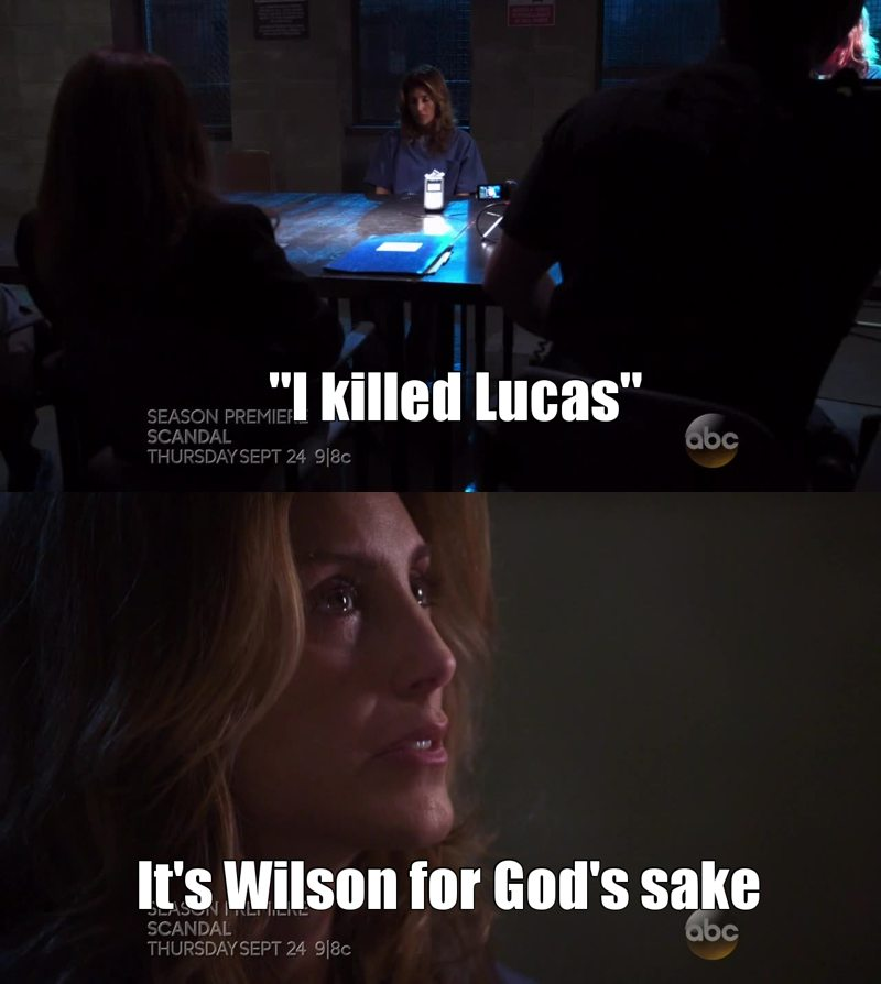 I'm so sad for her because I'm sure that she didn't kill him ! I have the feeling that it's Wilson (he had an affair with her and was obviously jealous of Lucas when he got back with Calista !)