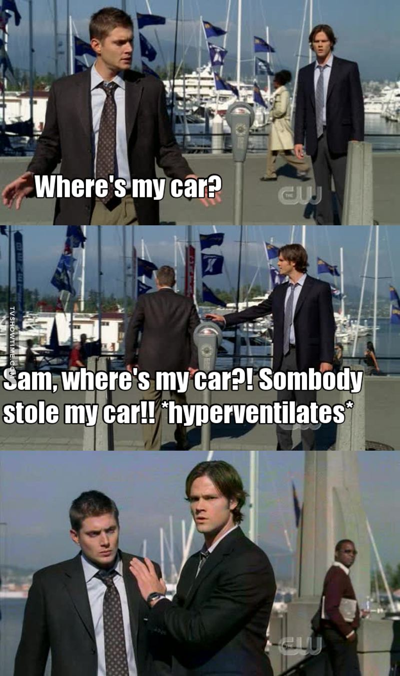 Dean freaking out about Baby being missing. What an iconic scene 👌😂