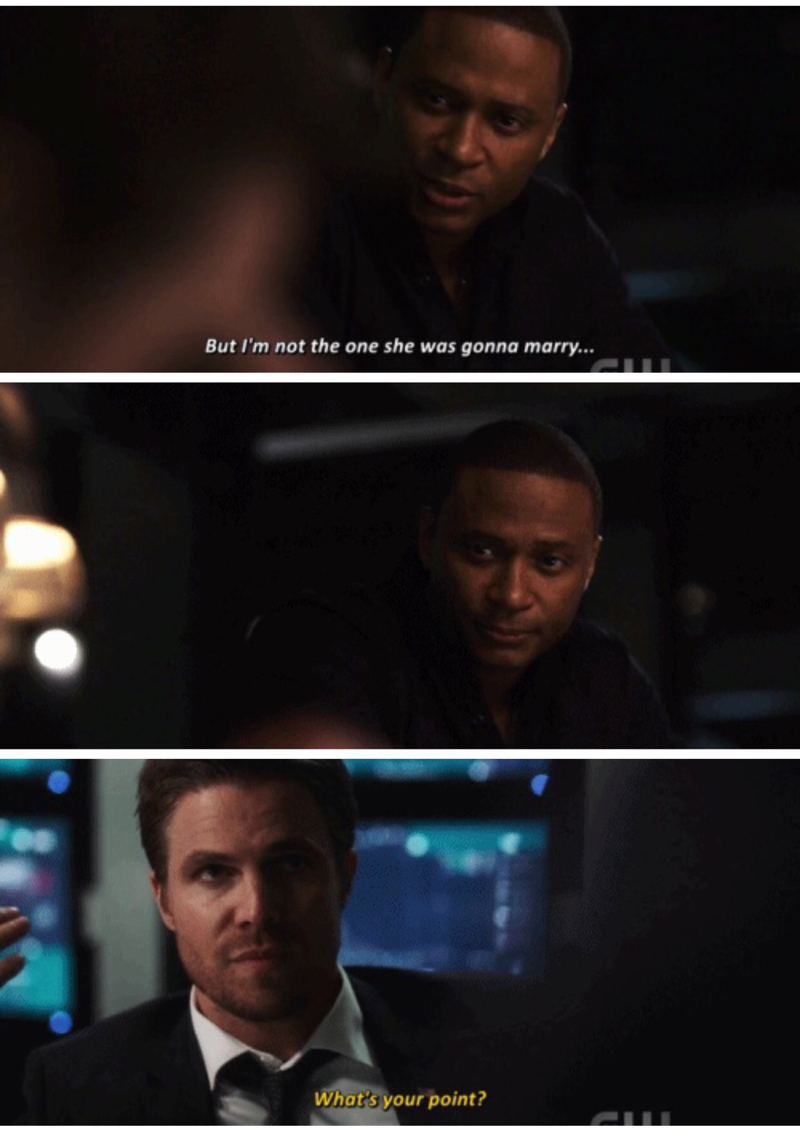 Diggle is the captain of the Olicity ship and I love it!!!