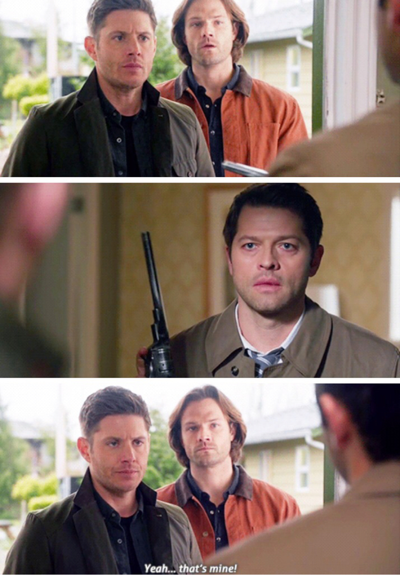 Maybe you shouldn't keep The Colt under your pillow Dean. 😂