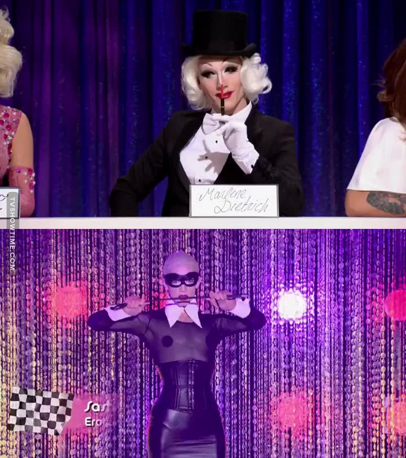 I'm so proud of my girl, she nailed Marlene Dietrich and killed the runway. she should've won but i guess it finally the time for alexis,