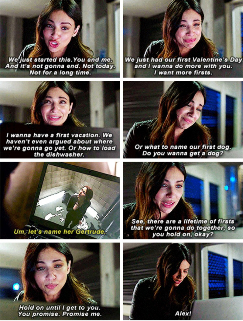 Raise your hand if you cried during that scene that gave you so many feels you are still a mess... Sanvers will be the death of me (and I'm fine with it!)
