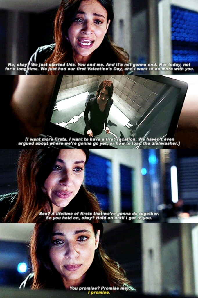 """""""You held on""""  """"I held on""""   This episode destroyed me. Too many Sanvers feelings 😭"""
