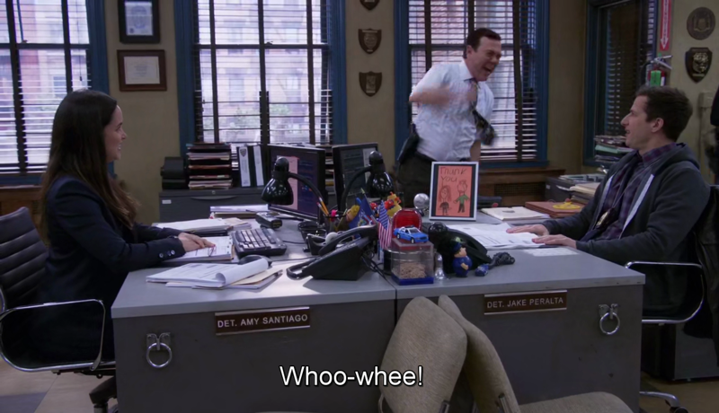 I'm Boyle whenever he's around Jake and Amy