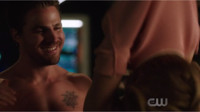 Who said that Oliver Queen can't smile?