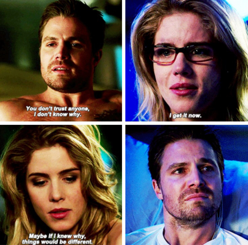 Oliver and Felicity finally understanding one another I'm crying this scene was beautiful! 💙💙