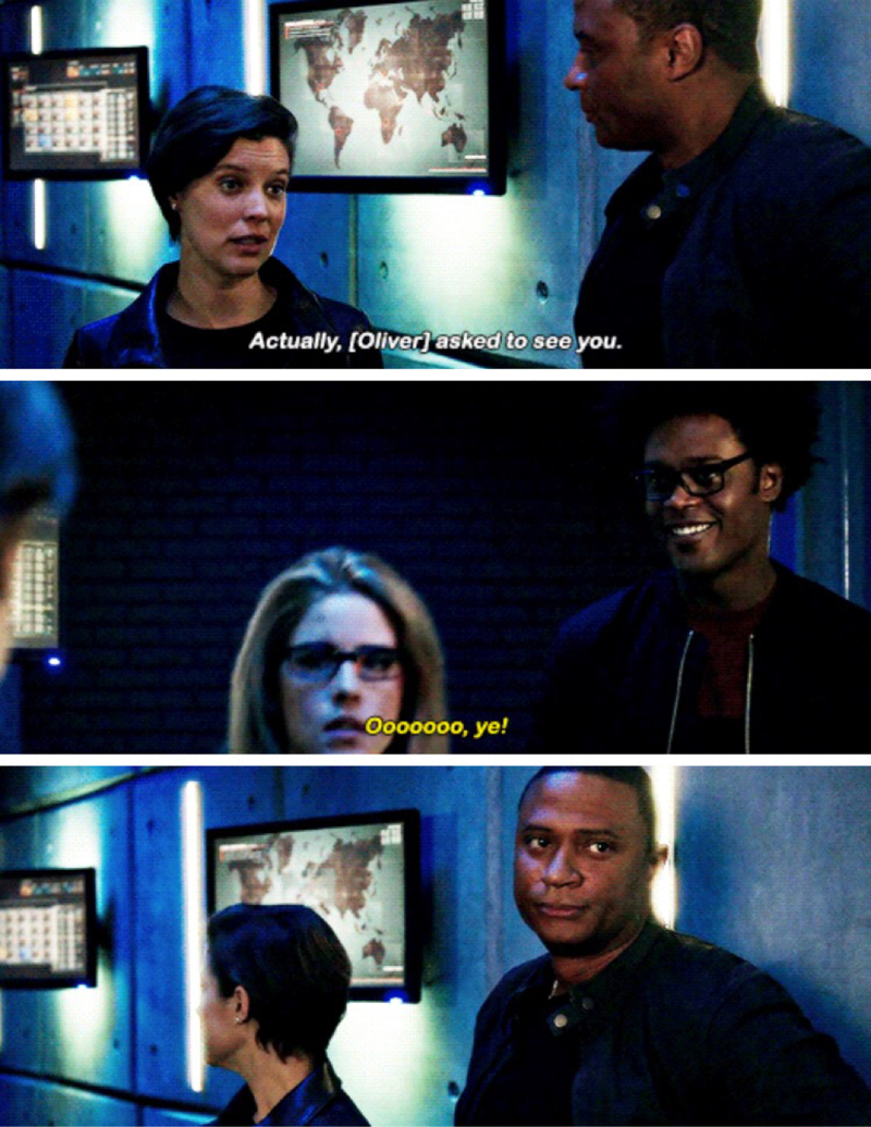 the moment where Curtis represented all of us olicity shippers ╰(*´︶`*)╯♡
