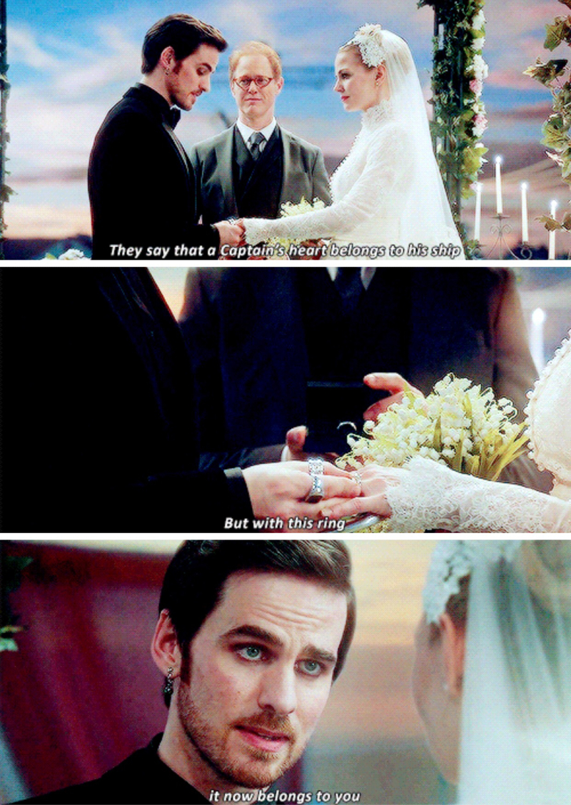 The best line of this episode, I could not stop smiling. The vows were written perfectly for each of them and the way Colin and Jennifer delivered those lines, was amazing. #AllTheFeels 😢