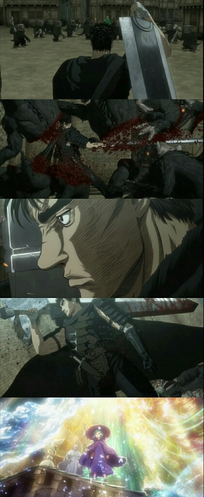 There must be some who still complain about the animation, but I see something good, combines perfect and gives more realism to the fights. Faithful to the manga and in the effects they excel. Berserk without doubt the best! 😎