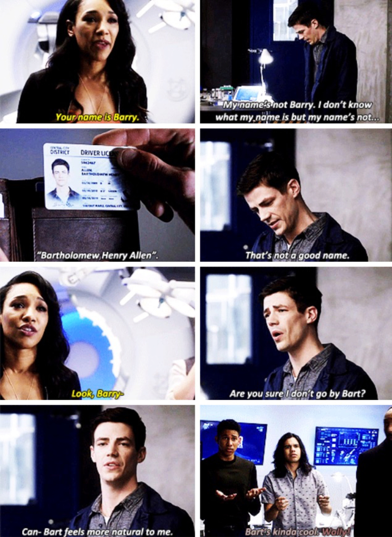 Barry losing his memories is probably the funniest thing ever 😂