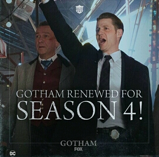 GOTHAM RENEWED FOR SEASON 4 !!!! best news ever, i was so scared 💕