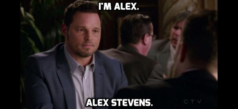 He used Izzie's surname...  ( cries )