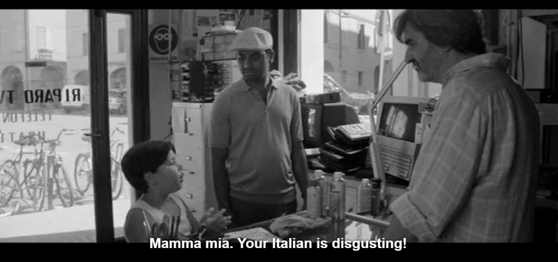 Lol that kid stole the scenes in this episode for me. He is a funny guy and I hope this is the start of a bright career in the future for me.   P.S Dev/Aziz's italian in this episode was REALLY good. I love the fact that he took the time to try and learn the language.