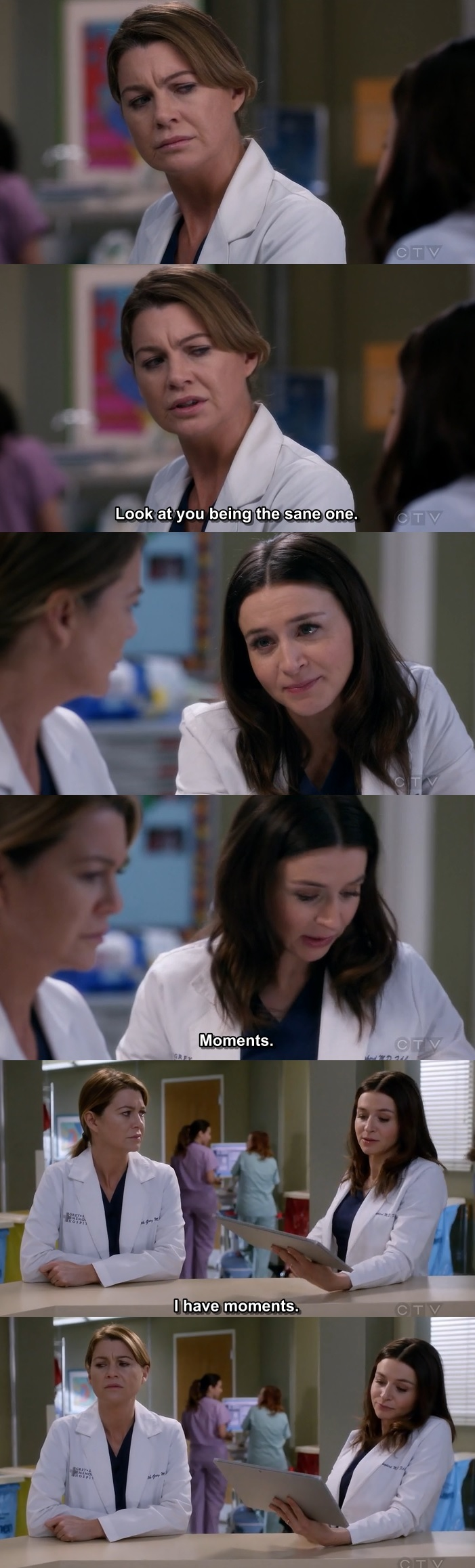 "Mer: ""Look at you being the sane one.""  ❤️ Amelia ❤️"