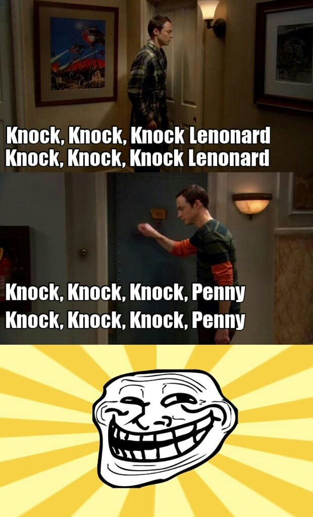 Sheldon is the best people in the world