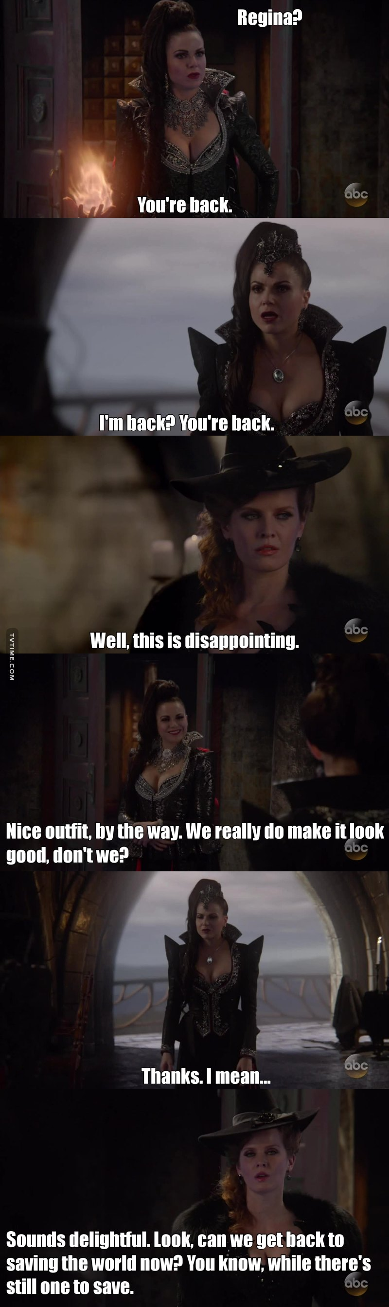 Evil Queen in a good mood and Zelena wasn't having any of it. What's there not to love about this? <3