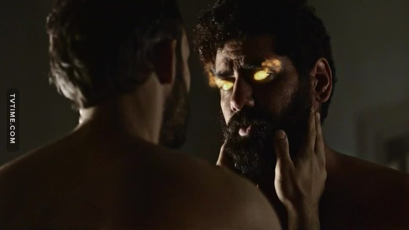 gay, muslim-ish sex on a tv show. Has a fatwa been called on Bryan Fuller yet? Those people at Starz really got balls! I really don't care much about full frontal nudity on screen, but I applaud them nonetheless.