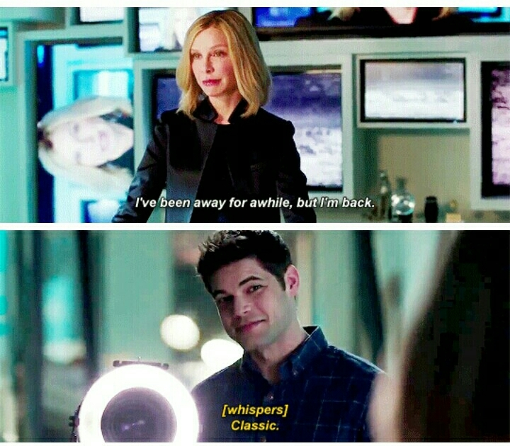 Cat, I really hope you're back for good. No more vacation, we need Cat Grant in every episode. 😂💪
