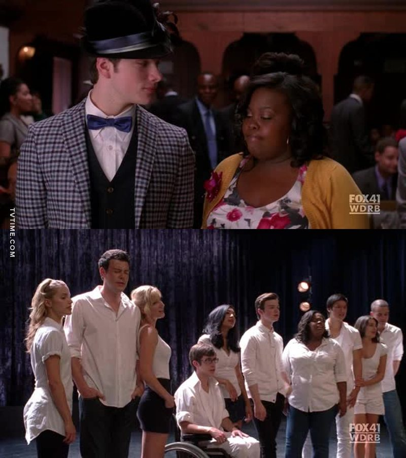 I love Mercedes and Kurt's friendship. And by the way, the message of this episode is very important. You may not believe in God, but you NEED to believe. And the final song shows a big message: your God, your reference point could be anyone!