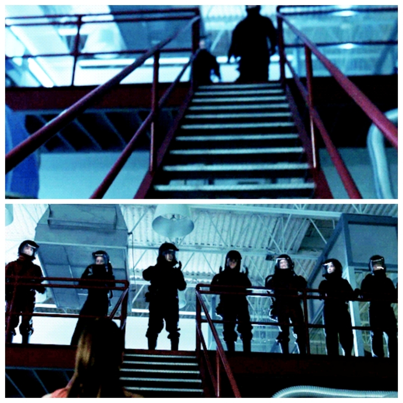 When you're friends with Bellamy Blake and he makes you do a synchronized entrance: