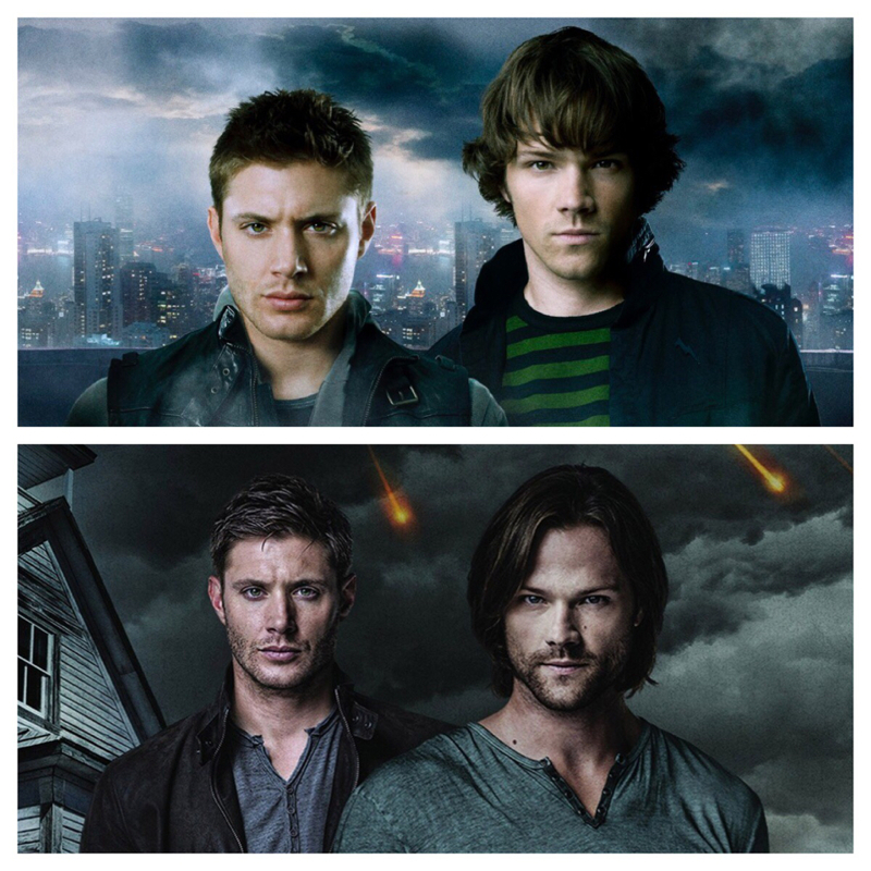 I remember when we met hell hounds in season 2. Dean and Sam were so young, inexperienced, they needed goofer dust to try to protect themselves and others, and they were scared shitless.. And now, they are adults.. they wear hipster glasses, ehm, I mean hellhound glasses, and seek out hell hounds, kill them easily and bathe in their blood. Oh, times have changed them, and at the same time not! ^_^
