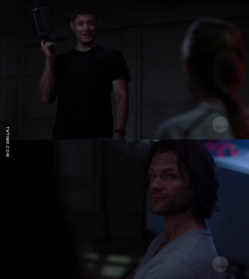 THE grenade launcher ! Dean's face was priceless and Sam's too. I love those brothers' moments.