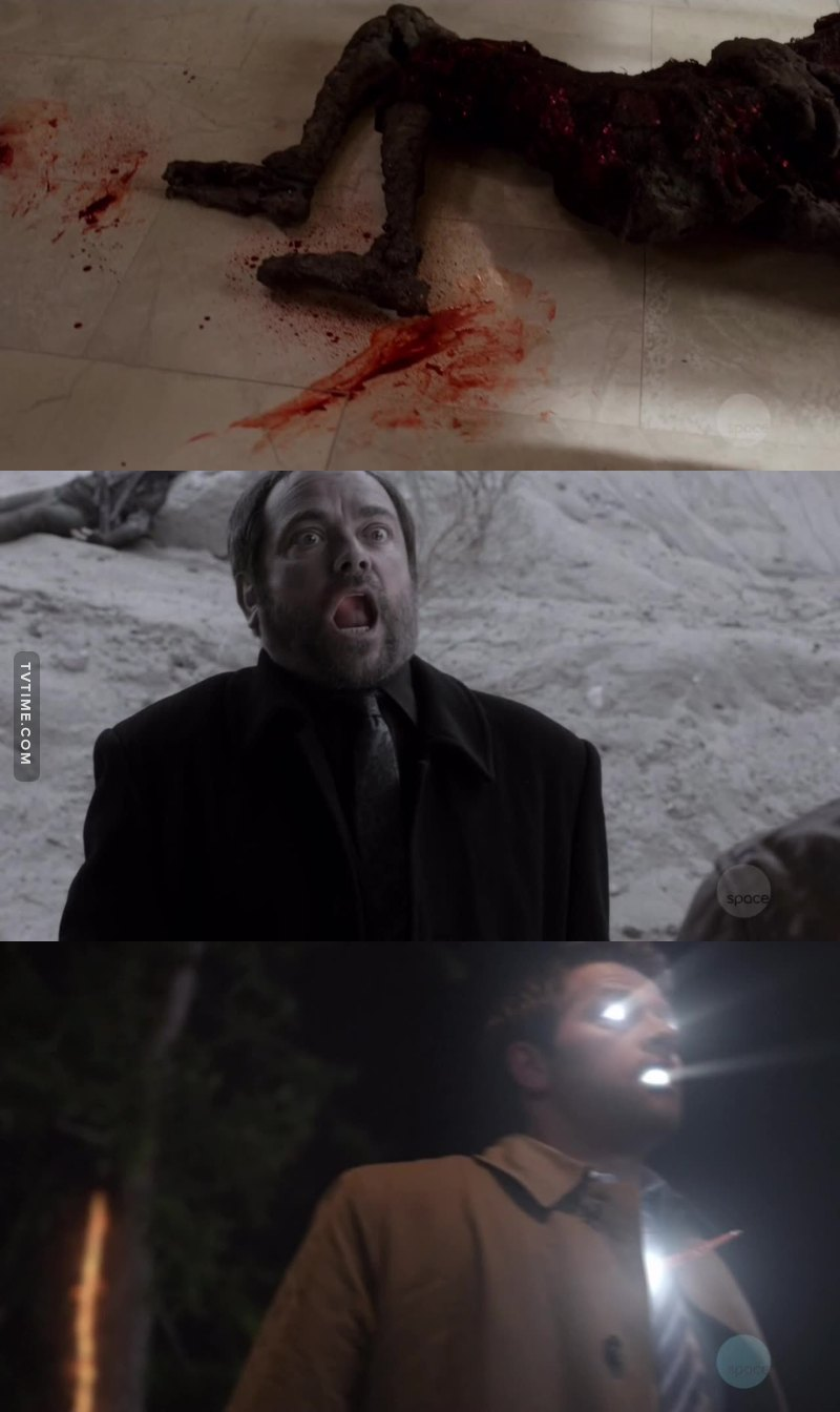 No fucking way ! You can't kill three of the best characters in one episode ! Come on and we didn't even get to see Rowena one last time. Go to hell supernatural !