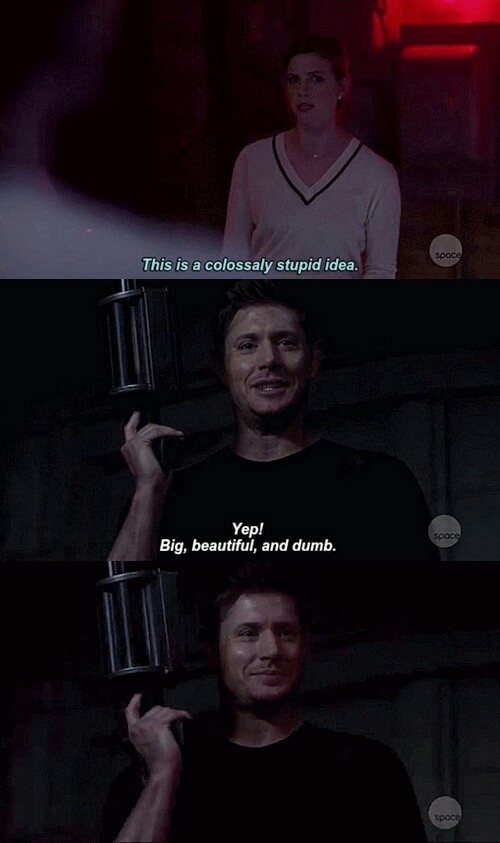Dean FINALLY got to use the grenade launcher