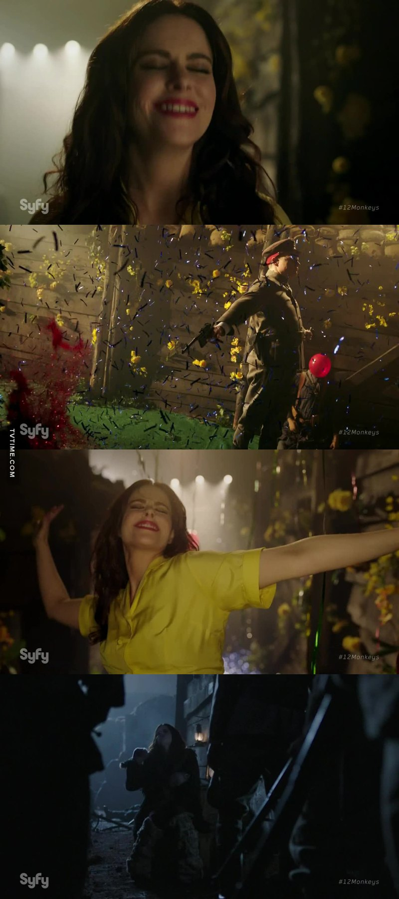 Jennifer é demais, no meio da guerra podendo ser morta e imaginando algo super divertido e até mesmo cantando claramente a melhor personagem