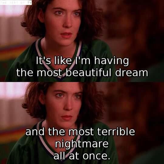 Me watching Twin Peaks:
