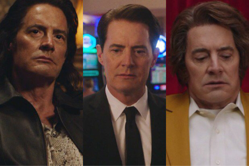 Man, that's what this show really needed, an extended, highly disgusting vomit sequence.  Oh, and will the real Mister Dale Cooper please stand UP?