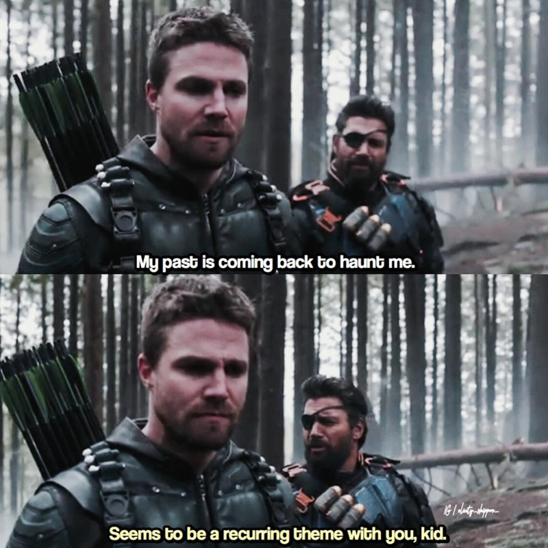 Slade😂  Oliver's Past and Barry's Future always haunting them😂