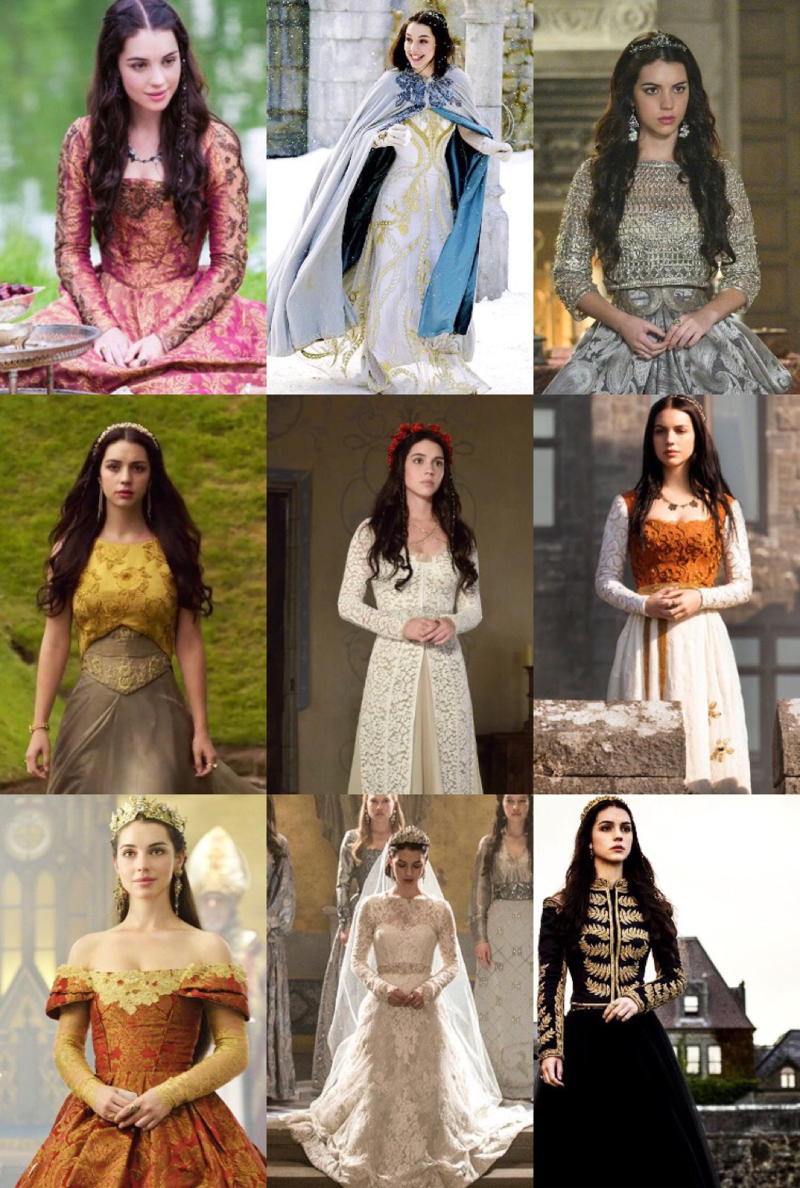 One of the hundreds of things I will miss about Reign are the dresses... ugh I wish I had money and events to wear them because they are so freaking beautiful. Which one is you favorite? (not only from this pic, but that you can remember)