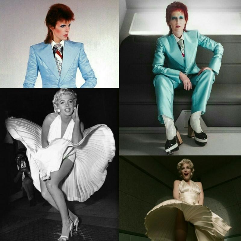 David Bowie /Marilyn Monroe - by Gillian Anderson 😄
