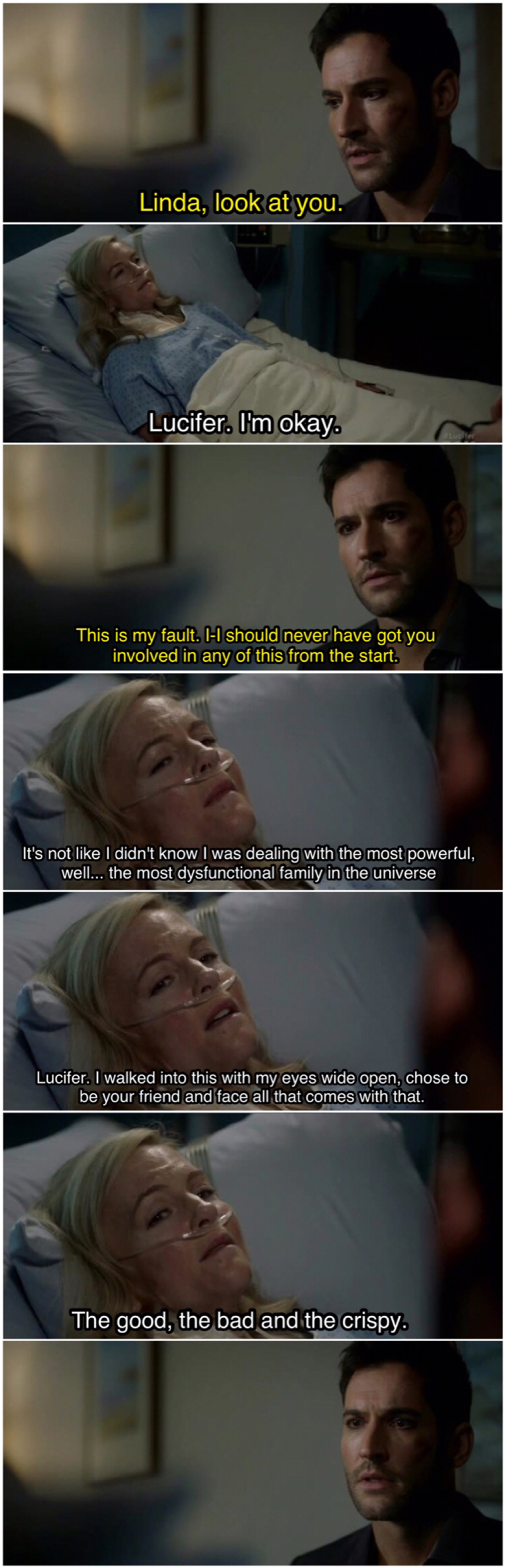 My poor Linda 😭 This scene 💜