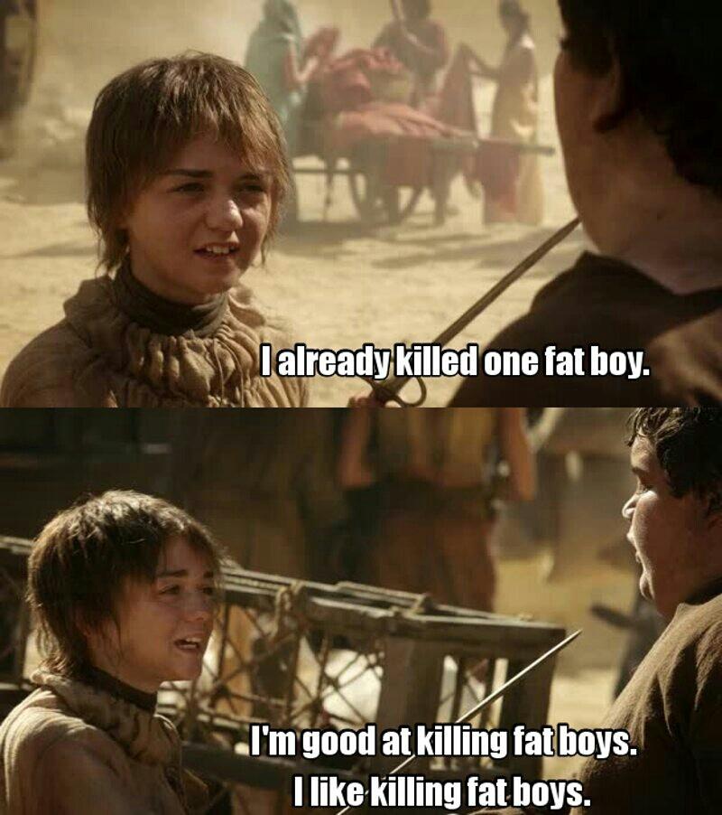 I fucking love Arya 😂😂😍.