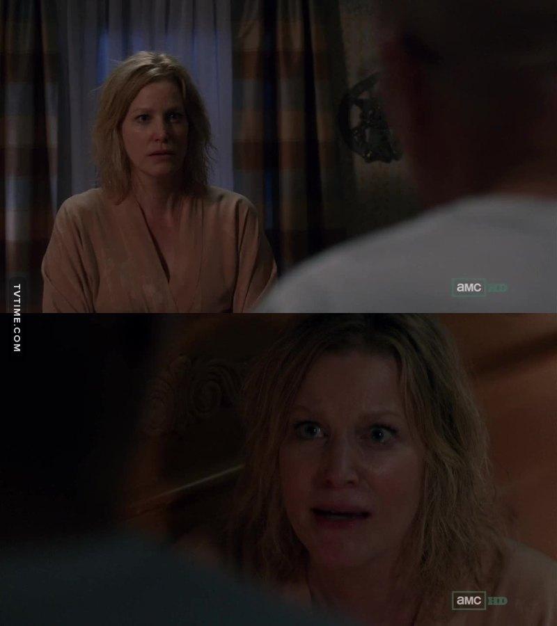 She's so afraid of him...