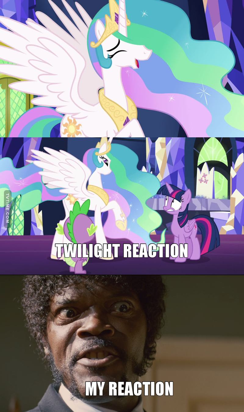 """Celestia having a burst of laughter was hilarious! I never expected her to laugh like that!   Gorgeous episode, I am glad we immediately got to see more of the Changelings! And that Twilight cares so much for a pony who was a """"bad guy"""" some seasons ago. Great start, can't wait to see what the rest of the season will be about!"""