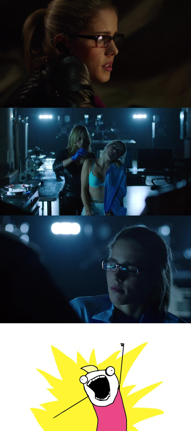 Felicity save the day, I love her so much 😍😍😍